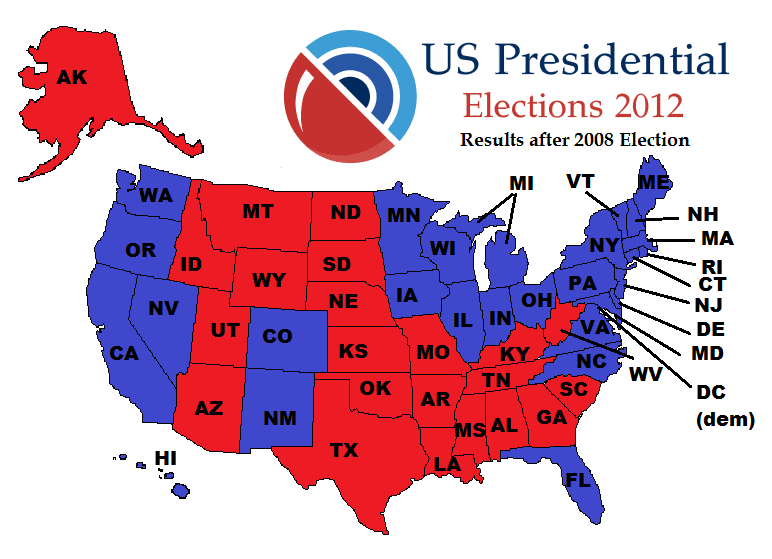 Electoral Vote Maps From ToWincom Political Maps The - Democrat republican map of the us